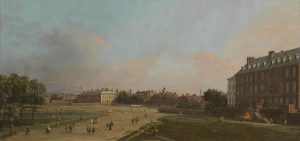 The Old Horse Guards from St James's Park c.1749 by Canaletto, 1697-1768