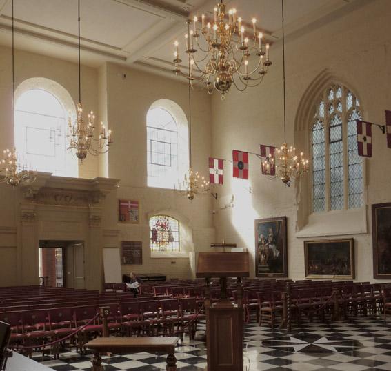 Interior of the Church of St John in Clerkenwell