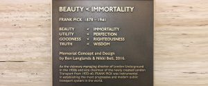 Frank Pick Memorial description of concept (section)