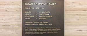 Frank Pick Memorial description of concept (section)