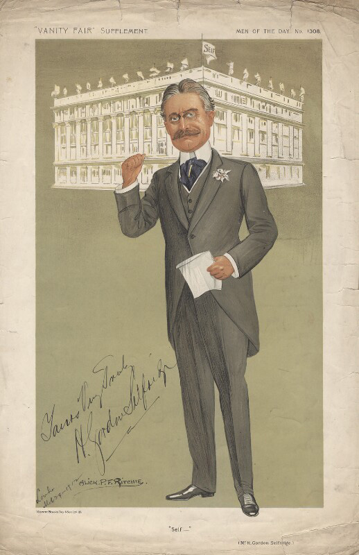Harry Gordon Selfridge, Vanity Fair, 1911, signed