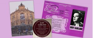 Montage: Hippodrome Casino, Judy Garland plaque and Talk of the Town programme