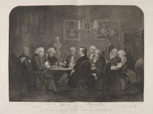 A literary party at Sir Joshua Reynolds', National Portrait Gallery