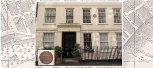 Pepys' House, 12 Buckingham Street, on background map of area