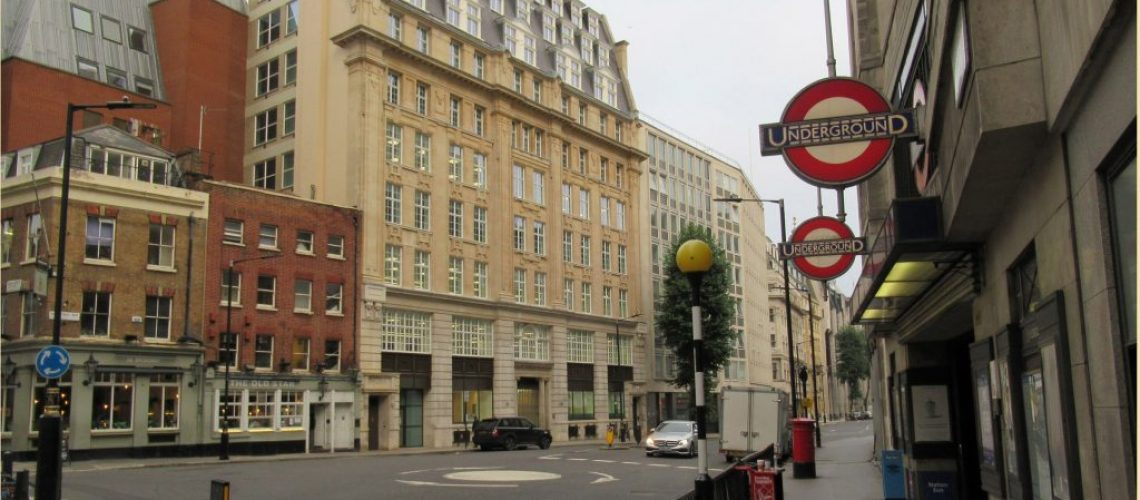 St James's Underground station, Broadway, London, facing the building that housed the Cipher School in the 1920s and 1930s