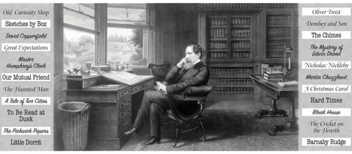 Charles Dickens in his study at Gad's Hill