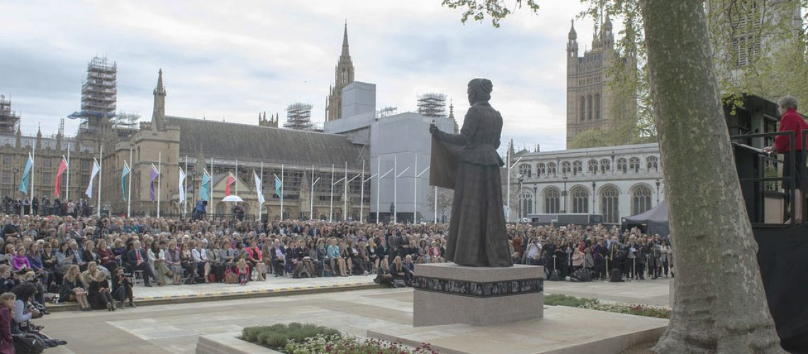 Fawcett statue unveiling