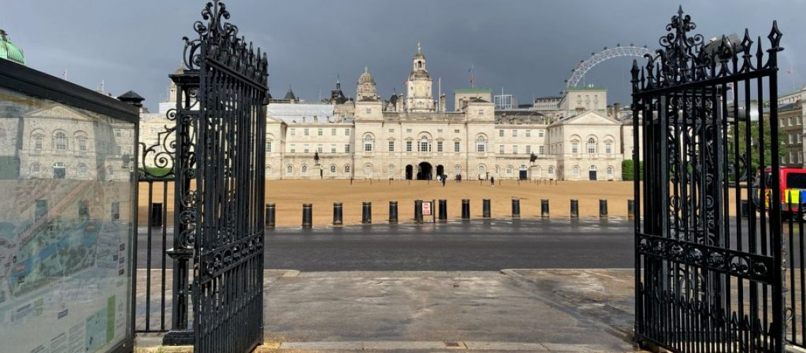 Horse Guards parade from St James's Parkrk
