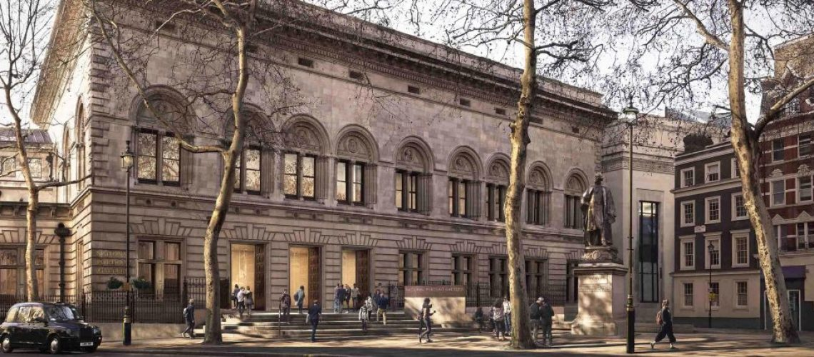Architectural impression of the new north entrance to the National Portrait Gallery